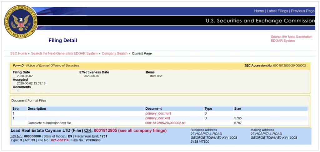 米国証券取引委員会(SEC)登録